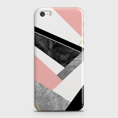 Geometric Luxe Marble Trendy Case For iPhone 5 & iPhone SE