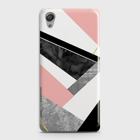 Geometric Luxe Marble Trendy Case For Sony Xperia XA