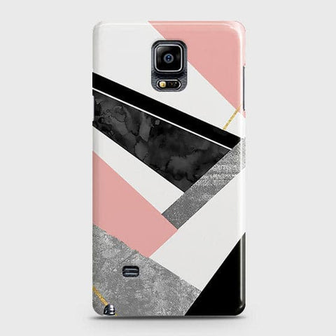 Samsung Galaxy Note 4 Cover - Geometric Luxe Marble Trendy Printed Hard Case With Life Time Colour Guarantee