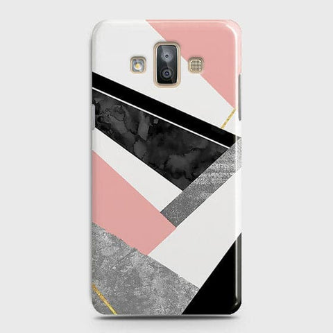 Geometric Luxe Marble Trendy Case For Samsung Galaxy J7 Duo