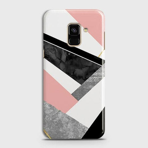Geometric Luxe Marble Trendy Case For Samsung A8 2018