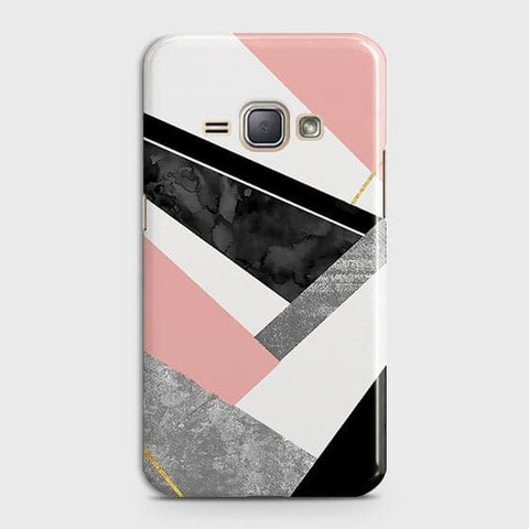 Geometric Luxe Marble Trendy Case For Samsung Galaxy J1 2016 / J120