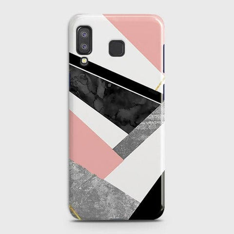 Geometric Luxe Marble Trendy Case For Samsung A8 Star