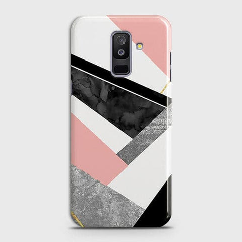 Geometric Luxe Marble Trendy Case For Samsung Galaxy J8 2018