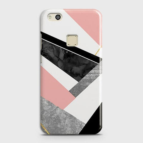 Geometric Luxe Marble Trendy Case For Huawei P10 Lite