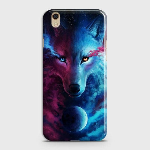 Oppo F1 Plus / R9 Cover - Infinity Wolf  Trendy Printed Hard Case With Life Time Guarantee