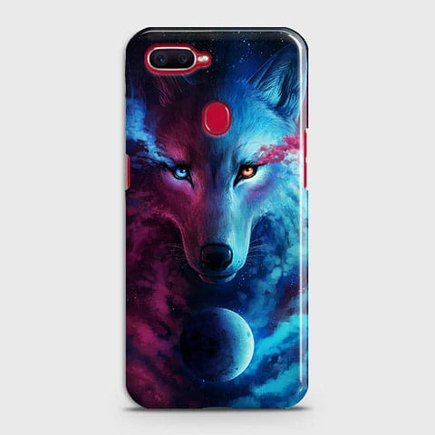 Oppo F9 Cover - Infinity Wolf  Trendy Printed Hard Case With Life Time Guarantee
