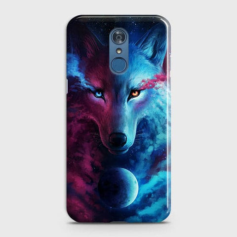 LG Q7 Cover - Infinity Wolf  Trendy Printed Hard Case With Life Time Guarantee