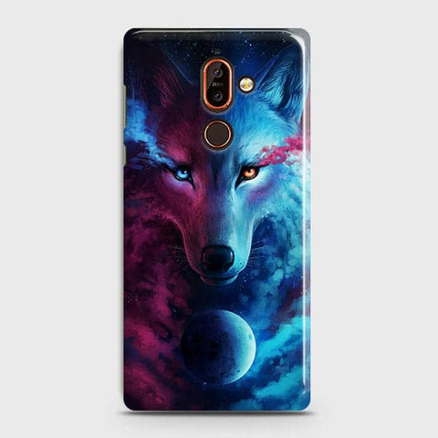 Infinity Wolf 3D Trendy Case For Nokia 7 Plus