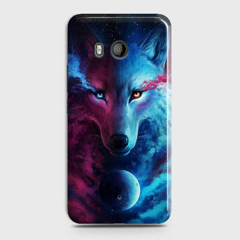 HTC U11 Cover - Infinity Wolf  Trendy Printed Hard Case With Life Time Guarantee