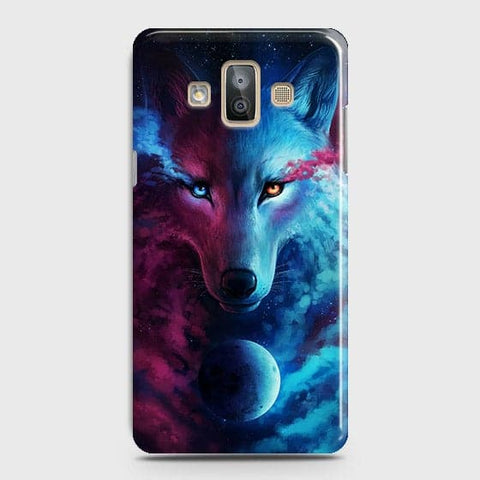 Samsung Galaxy J7 Duo Cover - Infinity Wolf  Trendy Printed Hard Case With Life Time Guarantee