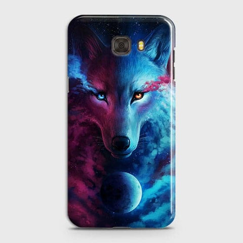 Samsung C7 Pro Cover - Infinity Wolf  Trendy Printed Hard Case With Life Time Guarantee