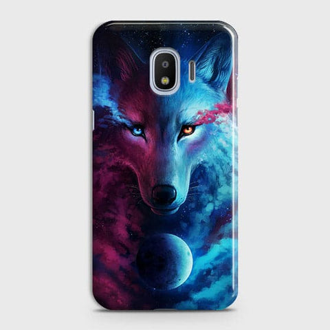 Samsung Galaxy J4 Cover - Infinity Wolf  Trendy Printed Hard Case With Life Time Guarantee