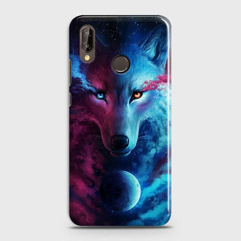 Huawei P20 Lite Cover - Infinity Wolf  Trendy Printed Hard Case With Life Time Guarantee