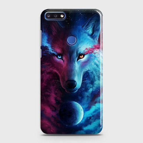 Infinity Wolf 3D Trendy Case For Huawei Y7 Prime 2018