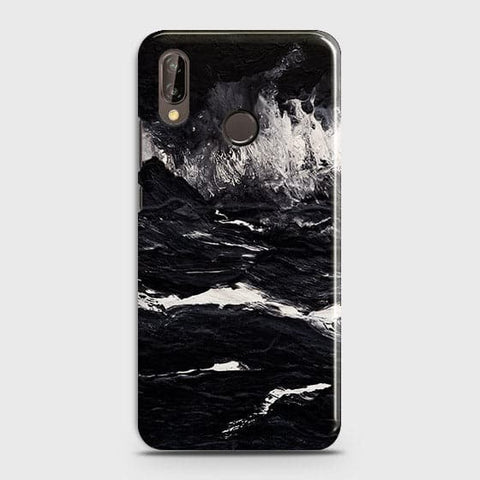 3D Black Ocean Marble Trendy Case For Huawei Nova 3