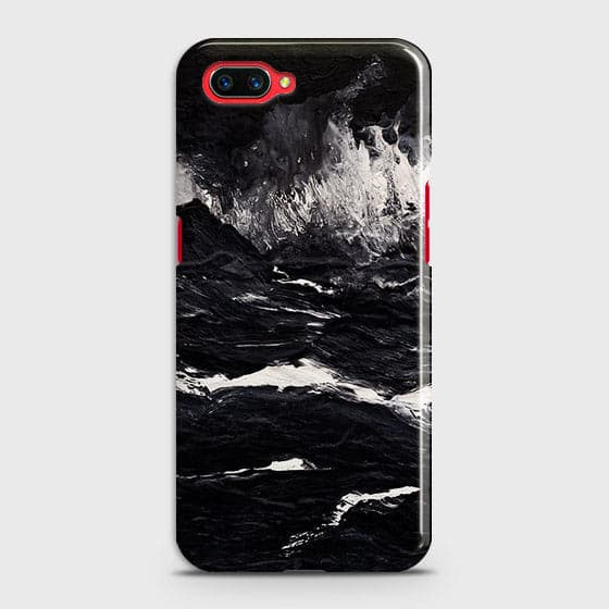 3D Black Ocean Marble Trendy Case For Oppo A3S