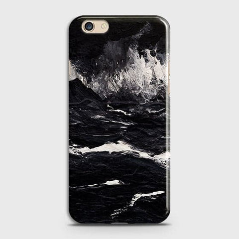 3D Black Ocean Marble Trendy Case For Oppo F1S