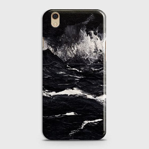 Oppo F1 Plus / R9 Cover-  Black Ocean Marble Trendy Printed Hard Case With Life Time Colour Guarantee