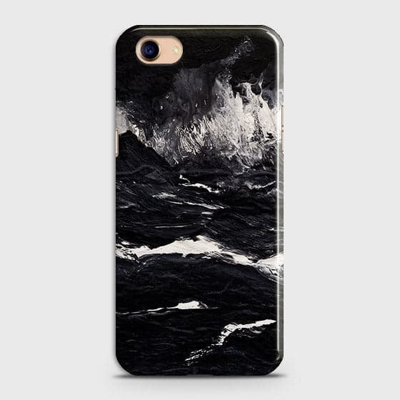 3D Black Ocean Marble Trendy Case For Oppo A83