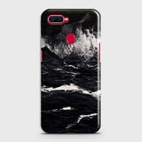 3D Black Ocean Marble Trendy Case For Oppo F9