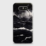 3D Black Ocean Marble Trendy Case For LG G5