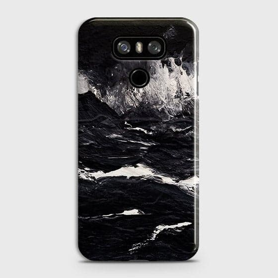 3D Black Ocean Marble Trendy Case For LG G6