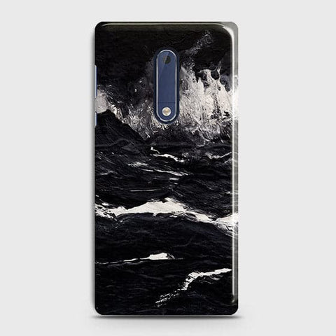 Nokia 5 -  Black Ocean Marble Trendy Printed Hard Case With Life Time Colour Guarantee