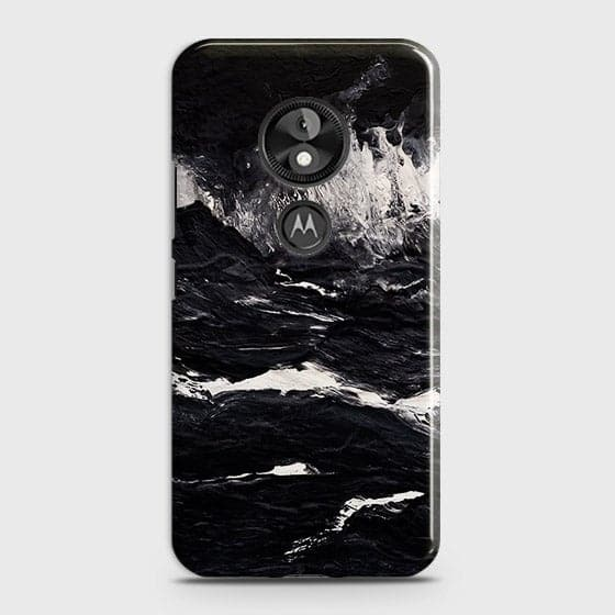 3D Black Ocean Marble Trendy Case For Motorola E5