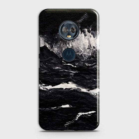 3D Black Ocean Marble Trendy Case For Motorola E5 Plus