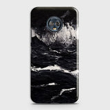 3D Black Ocean Marble Trendy Case For Motorola Moto G6