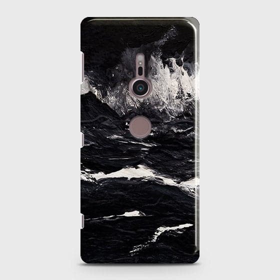 3D Black Ocean Marble Trendy Case For Sony Xperia XZ2