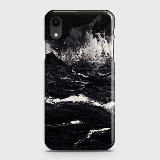 3D Black Ocean Marble Trendy Case For iPhone XR