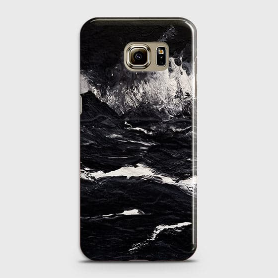 3D Black Ocean Marble Trendy Case For Samsung Galaxy S6 Edge