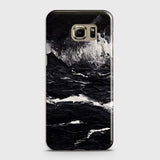 3D Black Ocean Marble Trendy Case For Samsung Galaxy S6
