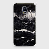 3D Black Ocean Marble Trendy Case For Samsung Galaxy S5