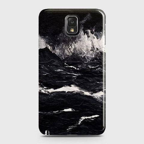 3D Black Ocean Marble Trendy Case For Samsung Galaxy Note 3