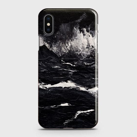 3D Black Ocean Marble Trendy Case For iPhone XS