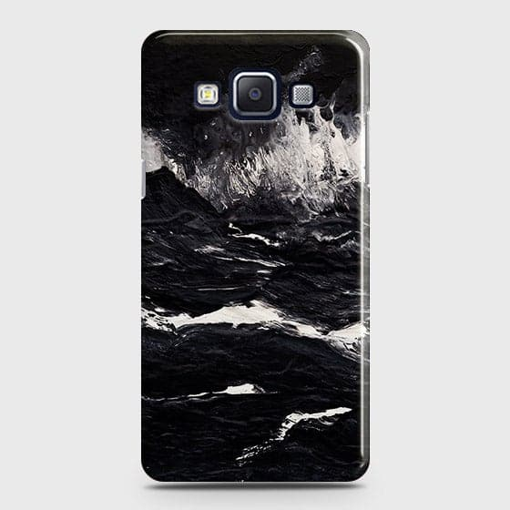 3D Black Ocean Marble Trendy Case For Samsung A7
