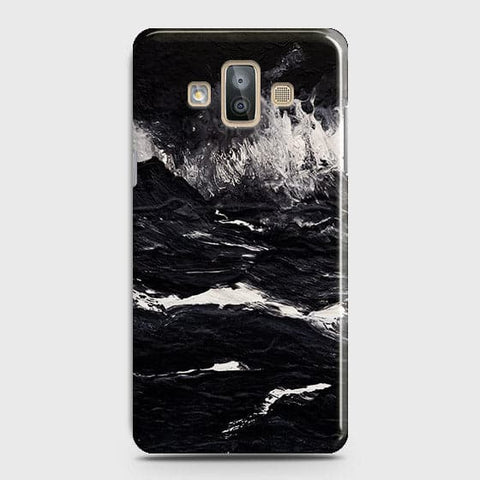 Samsung Galaxy J7 Duo Cover - Black Ocean Marble Trendy Printed Hard Case With Life Time Colour Guarantee