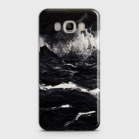 3D Black Ocean Marble Trendy Case For Samsung Galaxy J510