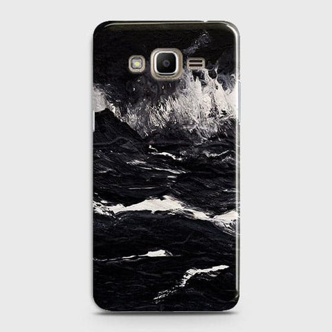Samsung Galaxy J320 / J3 2016 Cover - Black Ocean Marble Trendy Printed Hard Case With Life Time Colour Guarantee