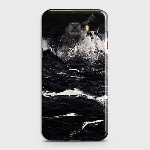Samsung C7 Cover -  Black Ocean Marble Trendy Printed Hard Case With Life Time Colour Guarantee