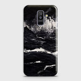 3D Black Ocean Marble Trendy Case For Samsung A6 Plus 2018