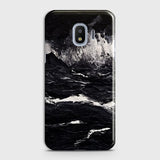 3D Black Ocean Marble Trendy Case For Samsung Galaxy J2 Pro 2018