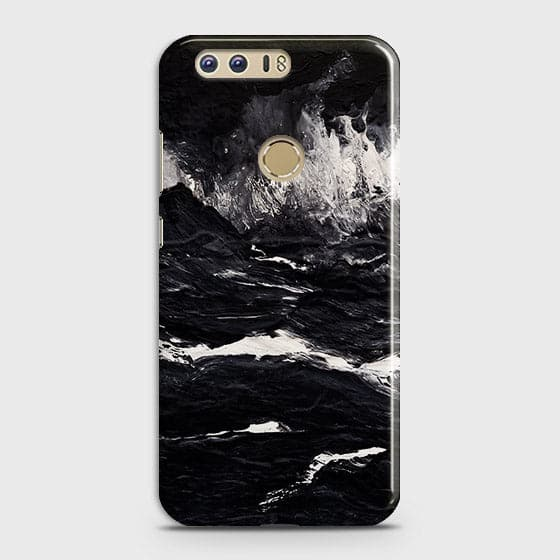 3D Black Ocean Marble Trendy Case For Huawei Honor 8
