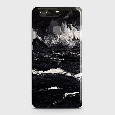 3D Black Ocean Marble Trendy Case For Huawei P9