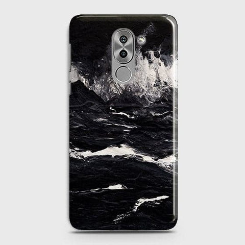 3D Black Ocean Marble Trendy Case For Huawei Honor 6X