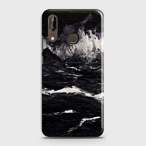 3D Black Ocean Marble Trendy Case For Huawei P20