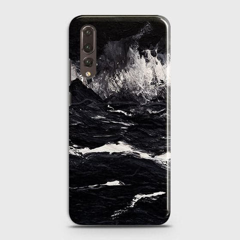 Huawei P20 Pro Cover -  Black Ocean Marble Trendy Printed Hard Case With Life Time Colour Guarantee